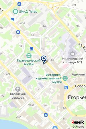 АПТЕКА ТД АДАМАНТАН на карте Егорьевска