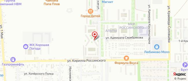 Карта расположения пункта доставки Краснодар Командорская в городе Краснодар