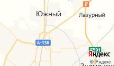 Отели города Российский на карте