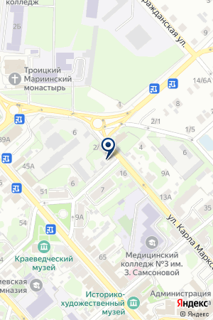 МАГАЗИН СТРОИТЕЛЬНЫХ ТОВАРОВ МОСТ на карте Егорьевска