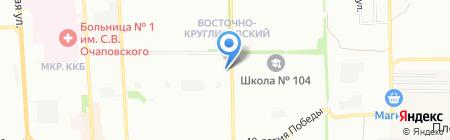 Vog на карте Краснодара