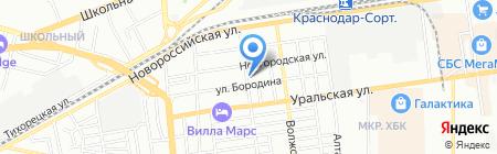 Цех по ремонту мягкой мебели на карте Краснодара