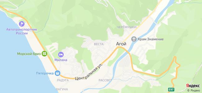 Частный сектор Агоя - объекты на карте