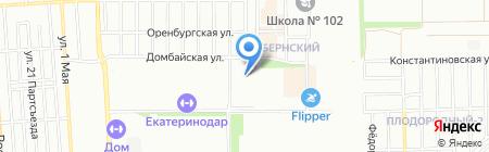 Восточно-Кругликовская-Черкасская на карте Краснодара