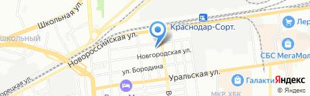 Детский сад №137 на карте Краснодара