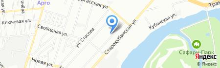 Детский сад №112 на карте Краснодара