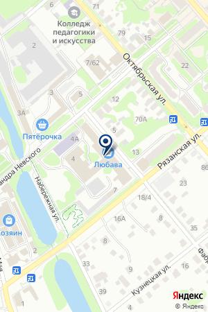 ПТФ ЛЮБАВА-2 на карте Егорьевска