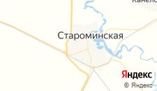 Гостиницы города Староминская на карте