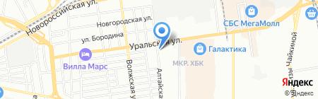 Автомойка на Алтайской на карте Краснодара