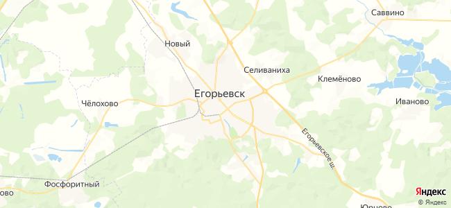 Гостиницы Егорьевска недорого - объекты на карте