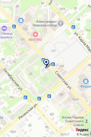 ОБЩЕЖИТИЕ ЕГОРЬЕВСКИЙ ТЕХНОЛОГИЧЕСКИЙ ИНСТИТУТ на карте Егорьевска