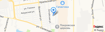 Косичка на карте Краснодара