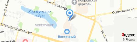 Полесье на карте Краснодара