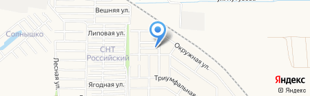 Таунхаусы на улице Роз на карте Краснодара