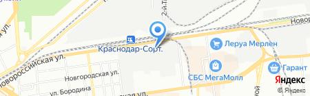 ТК на карте Краснодара