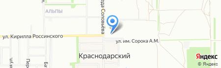 Краснодарский на карте Краснодара