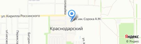 Параллели на карте Краснодара