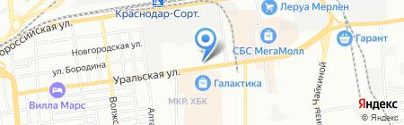 РАС на карте Краснодара