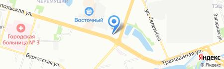 Карасунский на карте Краснодара