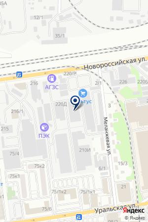 ТФ ДИОЛ на карте Новороссийска