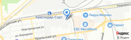 Южный дом на карте Краснодара