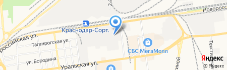 ТТС-Центр на карте Краснодара