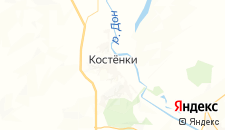 Отели города Костёнки на карте