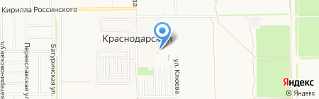 Меридиан на карте Краснодара