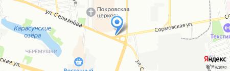 АвтоСклад на карте Краснодара