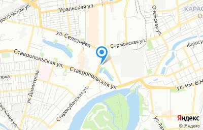 Местоположение на карте пункта техосмотра по адресу г Краснодар, ул Старокубанская, д 114