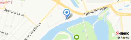 День рыбака на карте Краснодара