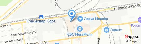 НСТ-групп на карте Краснодара