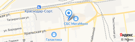 Valtera на карте Краснодара