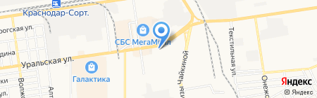 Росшина-Инвест на карте Краснодара
