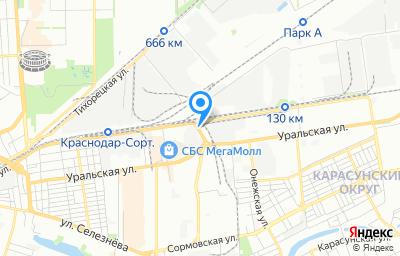 Местоположение на карте пункта техосмотра по адресу г Краснодар, ул им. Лизы Чайкиной, д 38