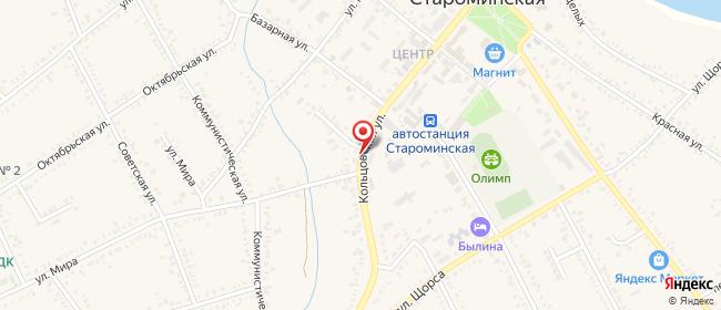 Карта расположения пункта доставки Билайн в городе Староминская
