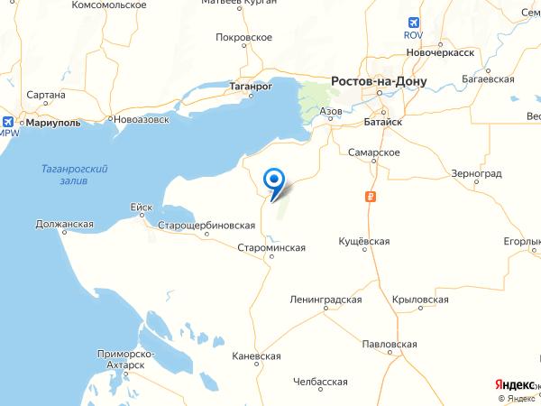 хутор Красная Поляна на карте