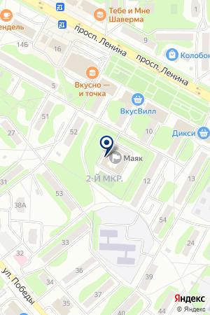 ЕГОРЬЕВСКАЯ ТОРГОВО-ПРОМЫШЛЕННАЯ ПАЛАТА на карте Егорьевска
