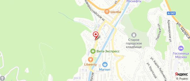 Карта расположения пункта доставки НаФрунзе в городе Туапсе