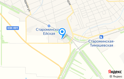 Местоположение на карте пункта техосмотра по адресу Краснодарский край, ст-ца Староминская, ул Маяковского, д 4