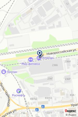 ПТФ ЮГ ГАРНИТУР на карте Новороссийска
