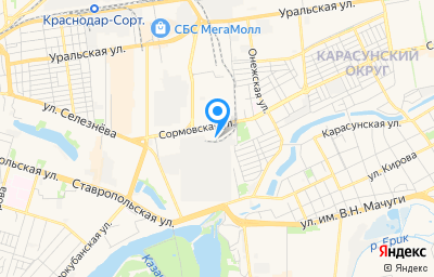 Местоположение на карте пункта техосмотра по адресу г Краснодар, ул Западная, д 3
