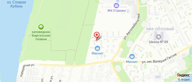 Карта расположения пункта доставки Краснодар Кружевная в городе Краснодар