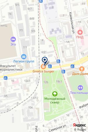 Продовольственный магазин на Сормовской на карте Краснодара