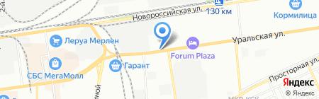 Еврошина на карте Краснодара