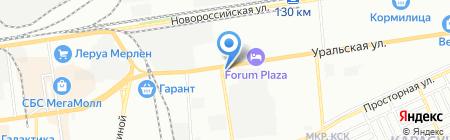 Мириада на карте Краснодара