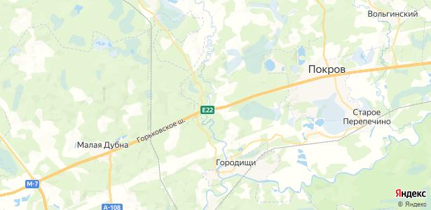 Киржач на карте