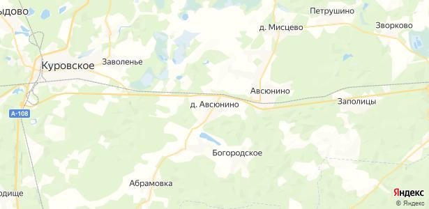 Авсюнино на карте