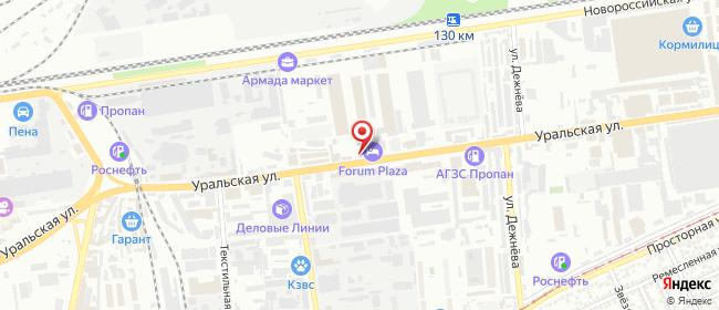 Карта расположения пункта доставки 220 вольт в городе Краснодар