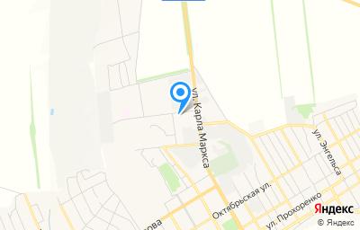 Местоположение на карте пункта техосмотра по адресу Воронежская обл, г Острогожск, ул Карла Маркса, д 57Б